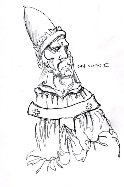 Pope Hat Drawing Forty-fourth Pope Sixtus Iii